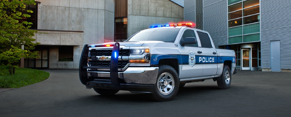 Le camion pick-up Chevrolet Silverado 1500 Special Service Vehicle 2017.